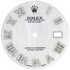 White MOP Dial Diamond Roman Numeral to Fit Datejust II Rolex 41mm Models 1/2 CT.