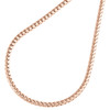 10K Rose Gold Solid Diamond Cut Franco Box Link Chain 2mm Necklace 22 - 30 Inch