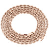 10K Rose Gold Diamond Cut Solid Rope Chain 5mm Twist Shiny Necklace 22 - 30 Inch