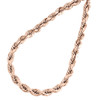 10K Rose Gold Diamond Cut Solid Rope Chain 3mm Twist Shiny Necklace 22 - 30 Inch