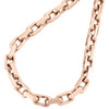 14K Rose Gold Solid Handmade Rectangle Square Link Chain 5.75mm Necklace 24 Inch