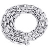 """14K White Gold Solid Handmade Rectangle Square Link Chain 5.75mm Necklace 24"""""""