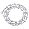 14KT White Gold 5mm Candy / Moon Cut Italian Bead Chain Necklace 18 Inches