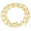 14K Yellow Gold 5mm Candy / Moon Cut Italian Bead Chain Fancy Necklace 18 Inches