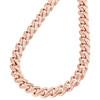 "10K Rose Gold Diamond Miami Cuban Chain Necklace 20-28"" | (4.53 ct. - 6.34 ct.)"