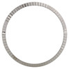 Original Factory 22K White Gold Fluted Rolex Bezel For 36mm DateJust / Day-Date