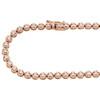 "10K Rose Gold Diamond Prong Set Tennis Choker Chain 20"" Necklace 5mm | 5.85 CT."