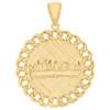 "10K Two-Tone Gold Last Supper Diamond Cut Miami Cuban Link 1.9"" Medallion Charm"