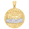 10K Yellow Gold Diamond Cut Apostles Last Supper Pendant Nugget Ore Charm 1.35""