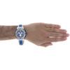 Mens Aqua Master Joe Rodeo Blue Stainless Steel Genuine Diamond Watch 0.20 CT.