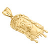 """10K Yellow Gold Fancy Statement Jesus Face Piece Pendant Blood Dripping Charm 2"""""""