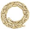 "14K Yellow Gold Solid Handmade Greek Key Chain 5.25mm Fancy Link Necklace 24"""