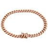 "10K Rose Gold Semi Hollow Italian Miami Cuban Link 6.25mm Box Clasp Bracelet 8"""