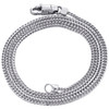 """10K White Gold 1.50mm Solid Box Franco Chain Thick Lobster Clasp Necklace 18-24"""""""