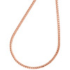 10K Rose Gold 1.50mm Solid Box Franco Chain Thick Lobster Clasp Necklace 18-24""