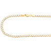 14K Yellow Gold Hollow Diamond Cut 3.50mm Curb Cuban Link Chain Necklace 18-24""