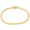 Real 10K Yellow Gold Hollow Miami Cuban Link Bracelet 5.50mm Box Clasp 8-9 Inch