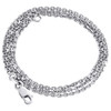 14K White Gold Oval Rolo Hermes Chain 1.50mm Necklace Lobster Clasp 16 - 24 Inch