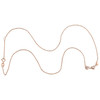"""14K Rose Gold Diamond Triple Puffed Heart Necklace 18"""" Cable Link Chain 0.10 CT."""
