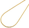 18K Yellow Gold Diamond Cut Solid Rope Chain 2.10mm Link Necklace 16 - 24 Inches