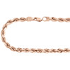 10K Rose Gold Solid 6mm Diamond Cut Rope Link Chain Shiny Statement Necklace 22""