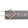 "14K Rose Gold Diamond V Contour Dangler Pendant 17"" Cable Necklace 0.25 CT."
