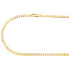 10K Yellow Gold 2.50mm Solid Plain Cuban Curb Link Chain Necklace 16 - 26 Inch