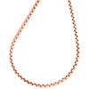 10K Rose Gold 2.25mm Hollow Open Square Box Chain Unisex Necklace 18 - 30 Inch