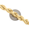 10K Yellow Gold 10mm Diamond Cut Solid Rope Link Chain Necklace 22 - 30 Inches