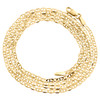10K Yellow Gold 2mm Plain Solid Anchor Mariner Link Chain Necklace 16-26 Inches