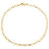 10K Yellow Gold 3mm Plain Solid Anchor Mariner Link Bracelet / Anklet 7-10 Inch