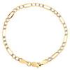 10K Yellow Gold 4.50mm Diamond Cut Hollow Fiagro Link Bracelet Anklet 7-10 Inch