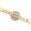 10K Yellow Gold 9.80mm Plain Hollow Fiagro Link Bracelet Lobster Clasp 8-9 Inch