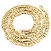 10K Yellow Gold 6.50mm Solid Fancy Cuban / Greek Key Chain Mens Necklace 25 Inch