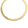 10K Yellow Gold 6.75mm Solid Herringbone Chain High Polished Necklace 16-24 Inch