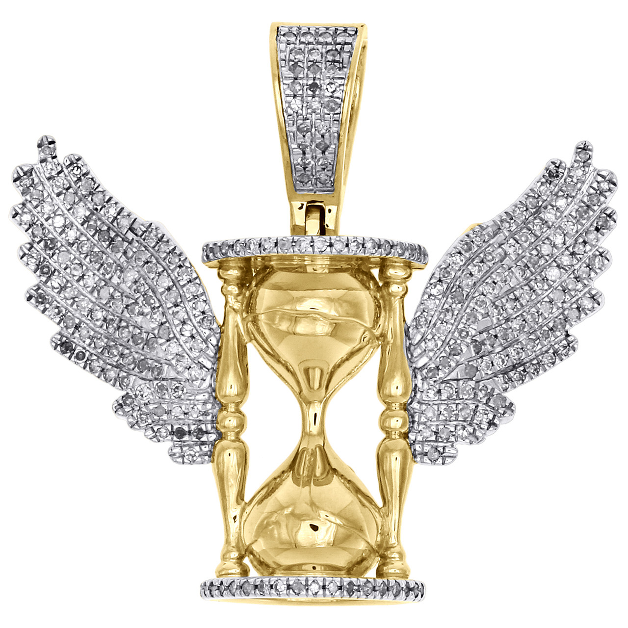 Charms for Bracelets and Necklaces 10k Yellow Gold Hourglass Charm