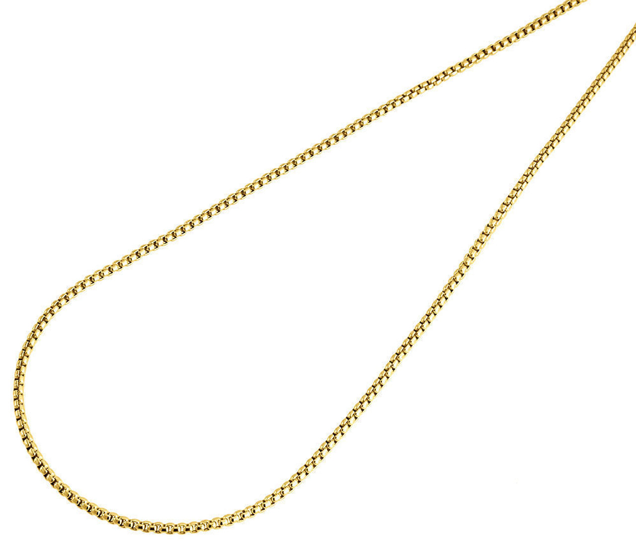 Real 10k yellow white and Rose gold  chain necklace 1.5 mm 18 inches long