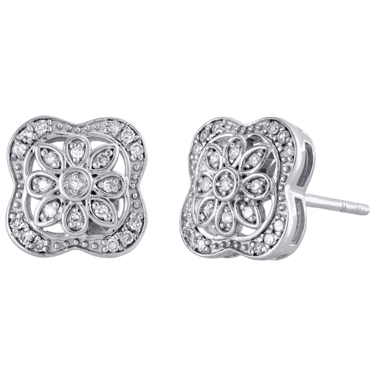 Square Stud Earrings .925 Sterling Silver