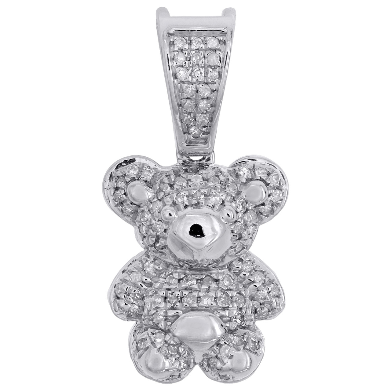 10k Yellow Gold Teddy Bear Charm Charms for Bracelets and Necklaces
