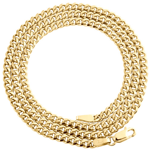 10K Yellow Gold 2.90mm Super Solid Miami Cuban Link Chain Necklace 16-26 Inches