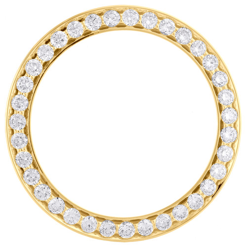 14K Yellow Gold Beadset Diamond Bezel For 36mm Rolex DateJust Day-Date 3.50 CT.