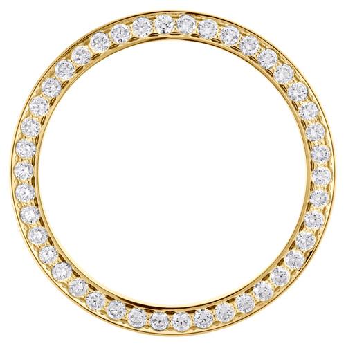 14K Yellow Gold Diamond Watch Bezel 126333 DateJust 41 Rolex 7 Points 3.20 CT.