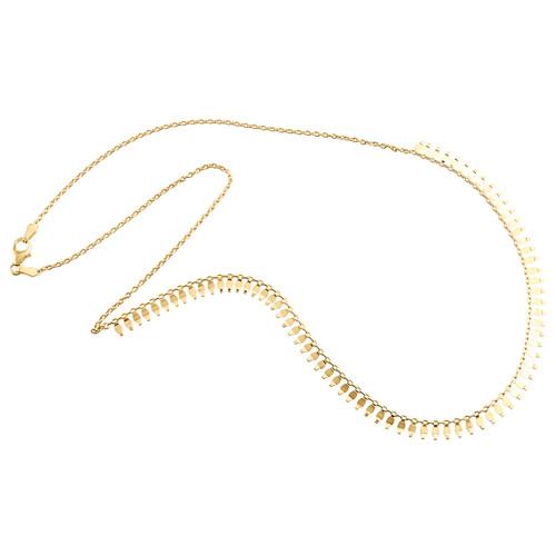 14K Yellow Gold Fancy Cable Chain 9mm Designer Statement Italian Necklace 18""