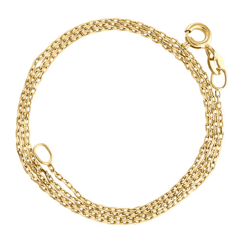 10K Yellow Gold 1mm Oval Link Cable Chain Fancy Italian Necklace 16 - 24 Inches