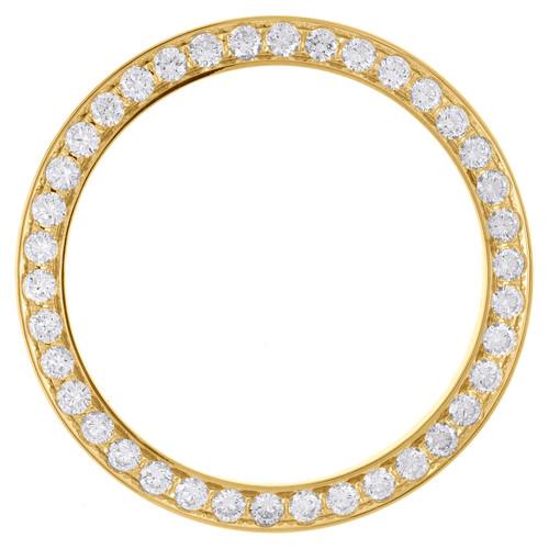 14K Yellow Gold Beadset Diamond Bezel Fits 36mm Rolex DateJust Day-Date 2.52 CT.