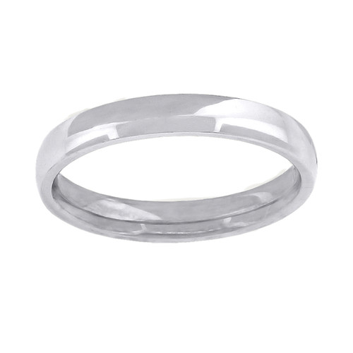 10K White Gold Unisex Solid Plain Comfort Fit 2mm Wedding Band Sizes 13