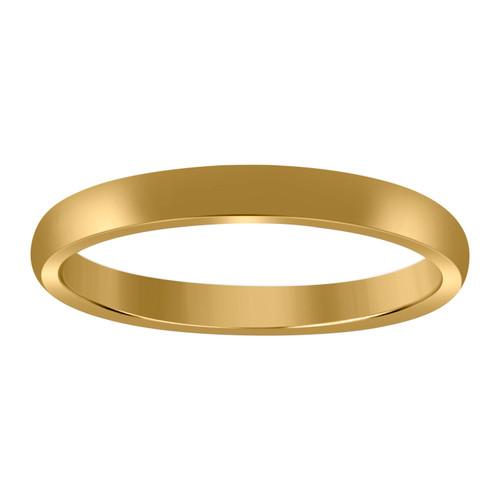 10K Yellow Gold Unisex Hollow Plain Comfort Fit 3mm Wedding Band Sizes 5 - 14