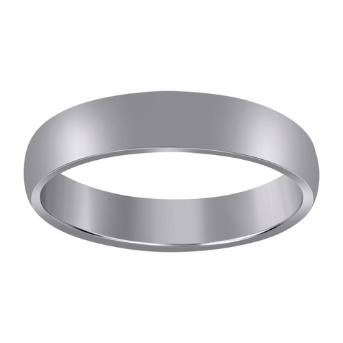 10K White Gold Unisex Hollow Plain Comfort Fit 5mm Wedding Band Sizes 5 to 13
