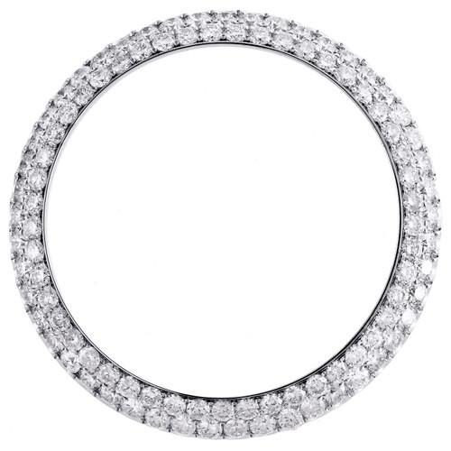 Rolex DateJust Custom Diamond Bezel Fits 41mm Watch Domed Honeycomb Set 4.46 CT.