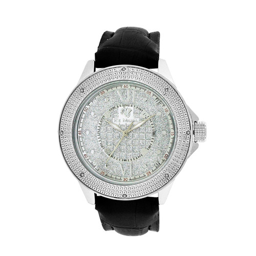 Men's Ice Mania IM3066 Genuine Diamond 24-Hour Dial Illusion Dial Watch 0.08 CT.